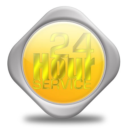 24 hour: 24 Hour Service Sign