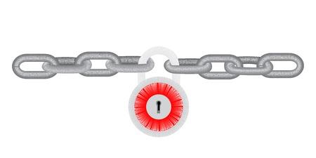 key chain: Locked chain