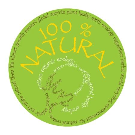 create: Concetto di ecologia � stato creato con design tipografico Vettoriali