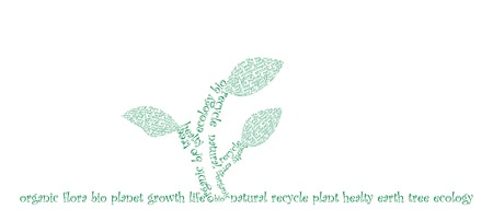 Ecology concept was created with typographic design Stock Vector - 7619719
