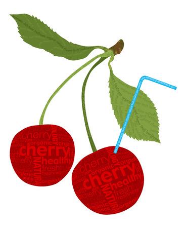 Fresh cherry Stock Vector - 8007889