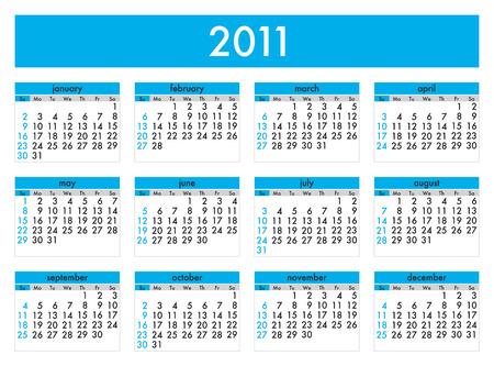 Calendar 2011 Stock Vector - 8138929