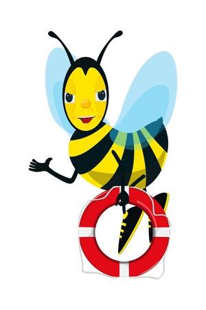 life belt: Bee and Life Belt