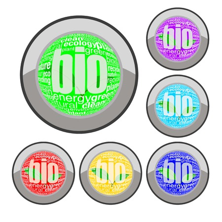 bio button set Stock Vector - 8138936