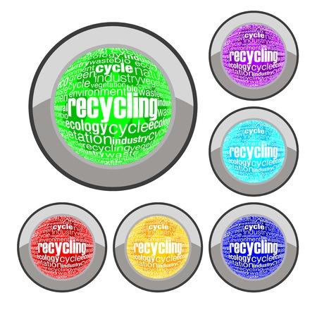 recycling button Stock Vector - 8138954