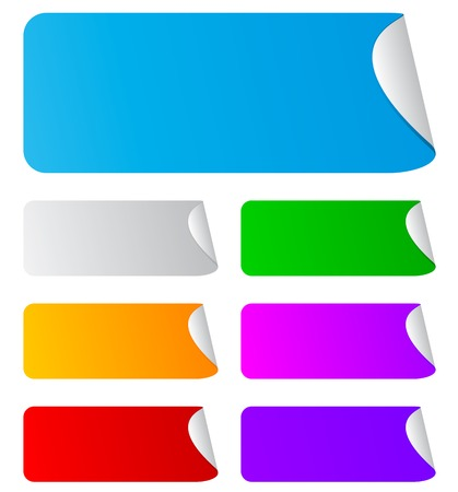 Colorful blank stickers