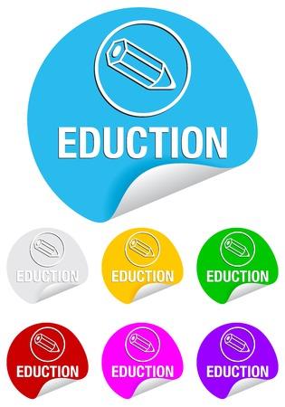 eduction: Eduction icon on the sticker