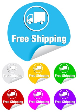 backing: Free shipping icon on the sticker