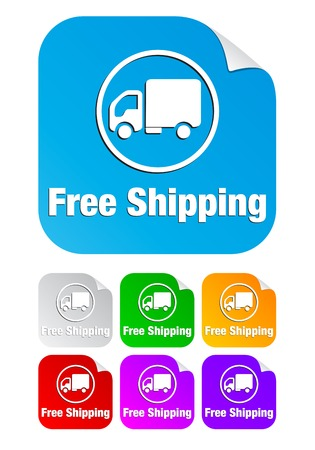 Free shipping icon on the sticker