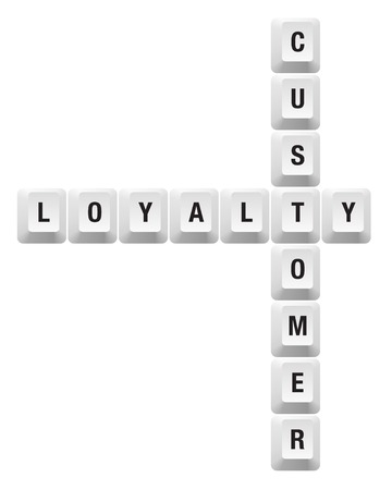 customer loyalty key Illustration