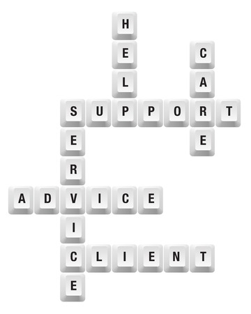 crossword: support key Illustration