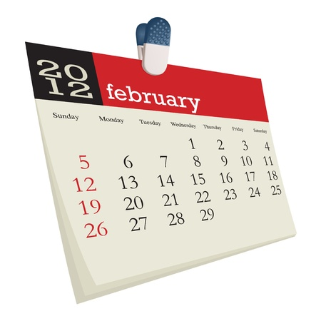 february 2012 Stock Vector - 10618981