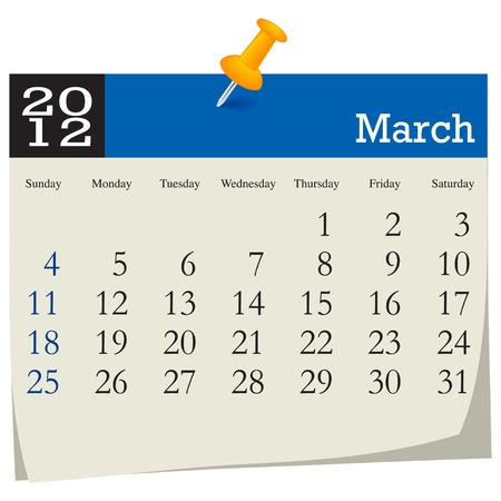 march 2012 calendar Illustration