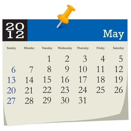 may 2012 calendar Vector
