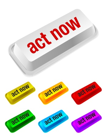 act: act now button Illustration