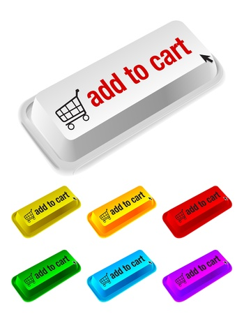 add to cart button Stock Vector - 10689583