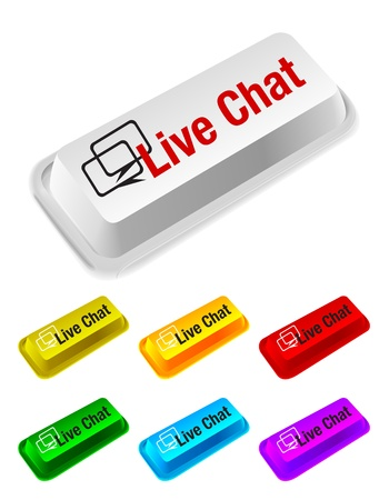 live chat button Vector