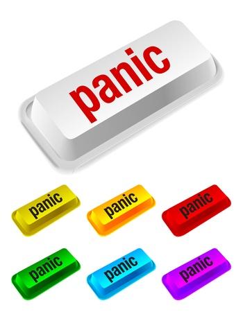 paniek: paniekknop Stock Illustratie