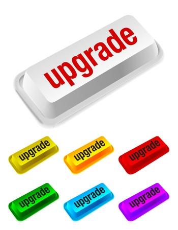 upgrade: upgrade button Illustration