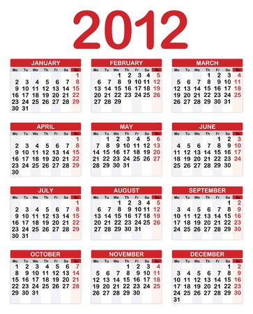 2012 Calendar Illustration