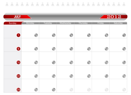 Planning Calendar -July2012