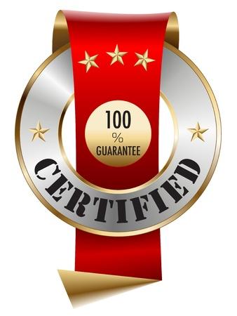 100 certifié de garantie Vecteurs
