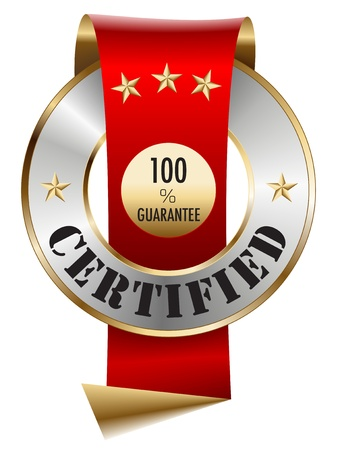 100 Garantie Certified Vector Illustratie