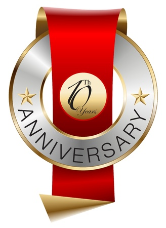 10th anniversary Stock Vector - 13157750