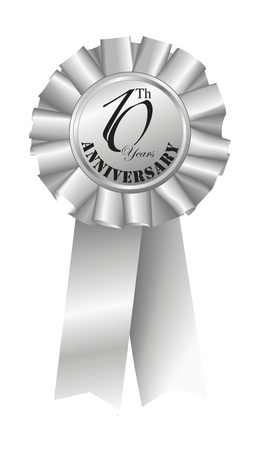 10th: Silver Ribbon for 10th Anniversary