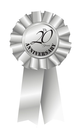 20th: Silver Ribbon for 20th Anniversary