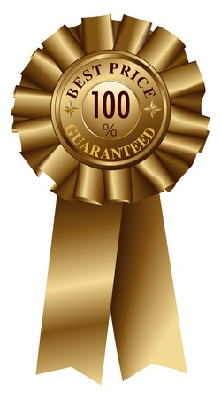 Best Price Guaranteed Gold Ribbon Stock Vector - 13157800