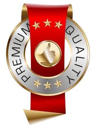 zufriedenheitsgarantie: Premium Qualit�t Illustration