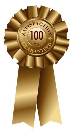 satisfaction guaranteed: Satisfaction Guaranteed Gold Ribbon