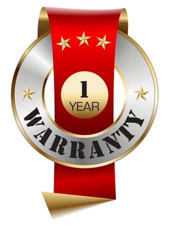 1 Year Warranty Vector