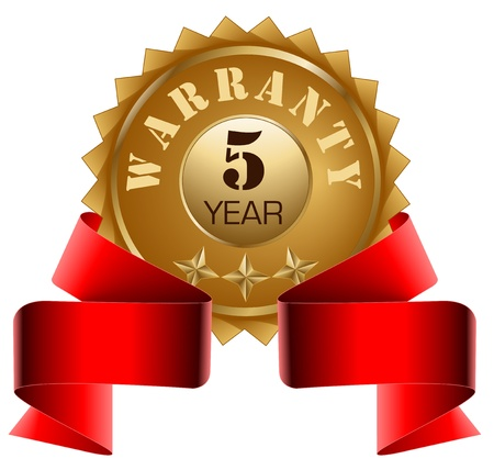 Warranty 5 Year and Red Ribbon