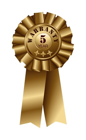 Ribbon Warranty 5 Year Stock Vector - 13157841
