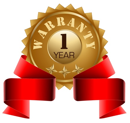 1 year warranty: Warranty 1 Year and Red Ribbon