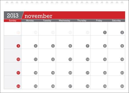 november 2013-planning calendar