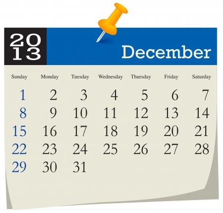 December 2013 Calendar Stock Vector - 16439779