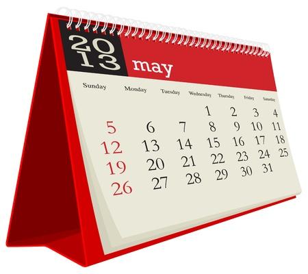 calendario da tavolo: maggio calendario da tavolo 2013