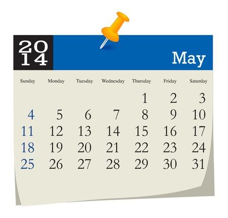 calendar 2014 may Illustration