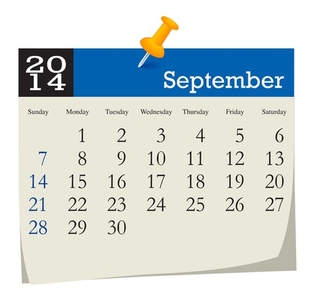 september calendar: calendar 2014 september Illustration