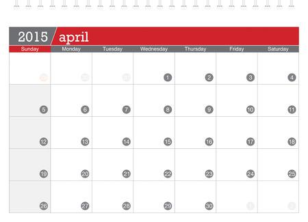 planificacion: 04 2015 calendario de planificaci�n