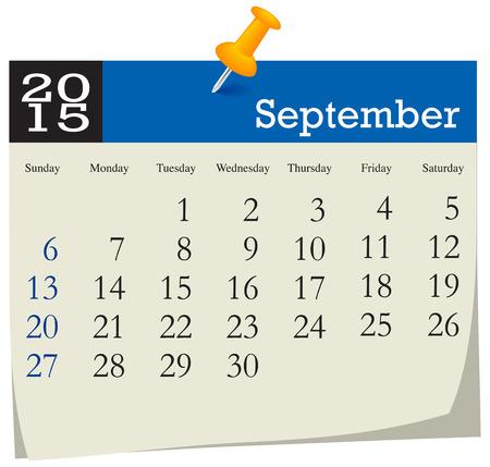 september: Calendar 2015 September