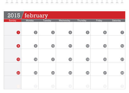 planificacion: 02 2015 calendario de planificaci�n Vectores