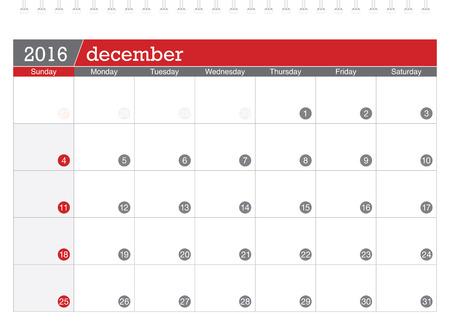 in december: December 2016 planning calendar
