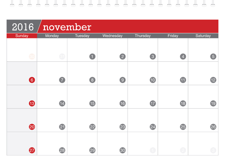 planificacion: 11 2016 calendario de planificaci�n