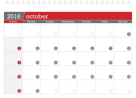 planificacion: 10 2016 calendario de planificaci�n