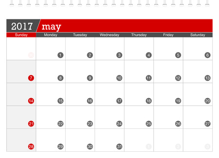 planning calendar: May 2017 planning calendar