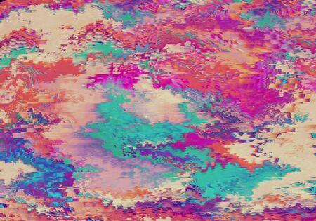 Mélange de fond de peinture abstraite colorée d'Art Ink Paint Explode Colorful Fantasy Spread
